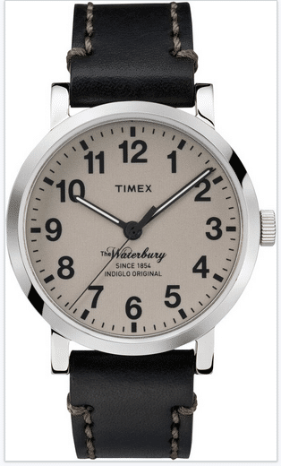 Time Waterbury watch with black strap
