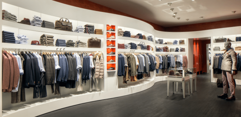 interior of suit supply shop