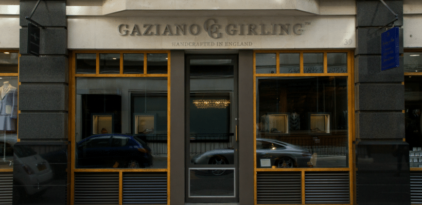 savile row gaziano shop