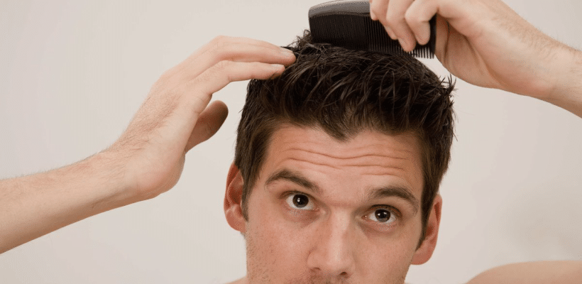 tame a mens cowlick