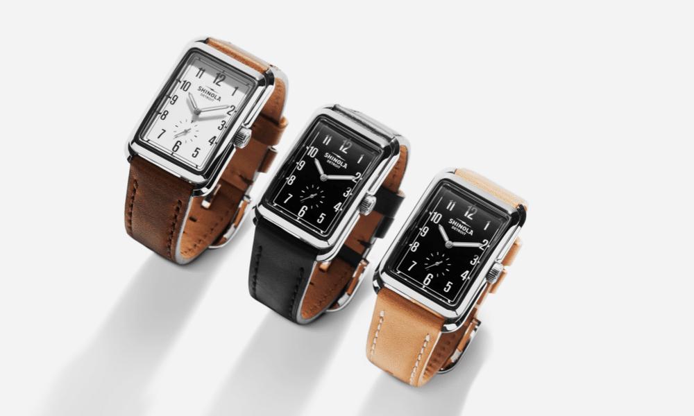 three of the new shinola omaha watch