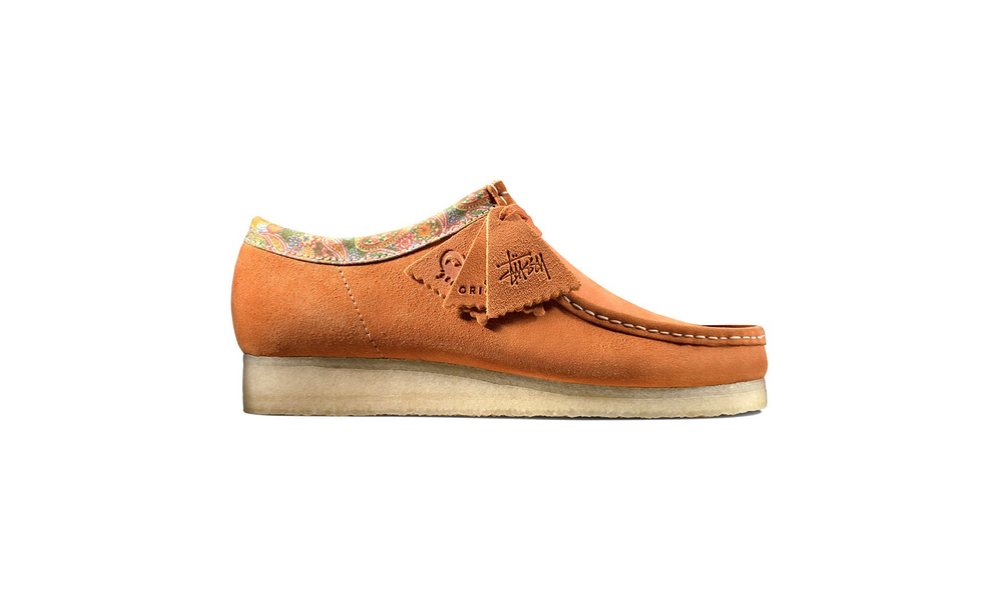 the stussy and clarks collaboration wallabee