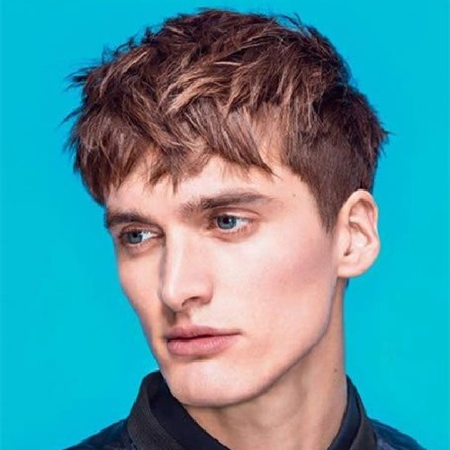 man with long french crop haircut