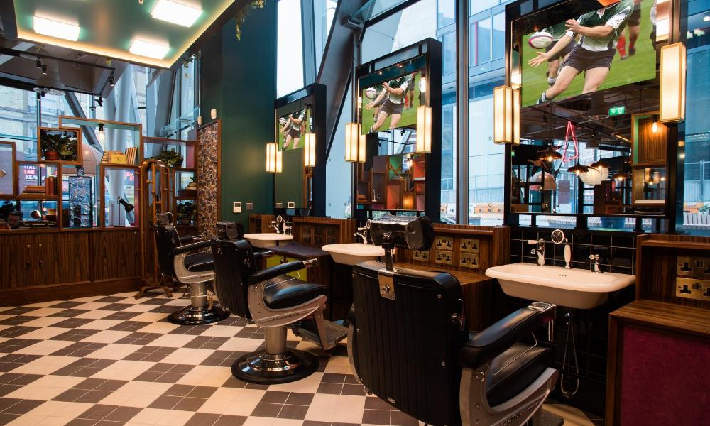 sharps barbers interior