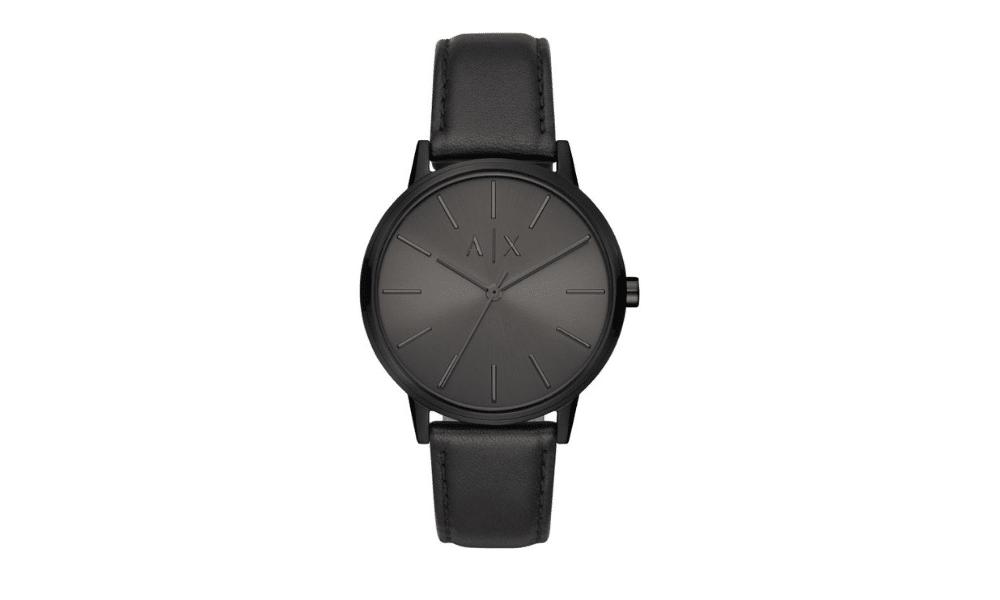 armani exchange watch black