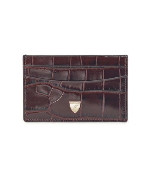 croc leather cardholder