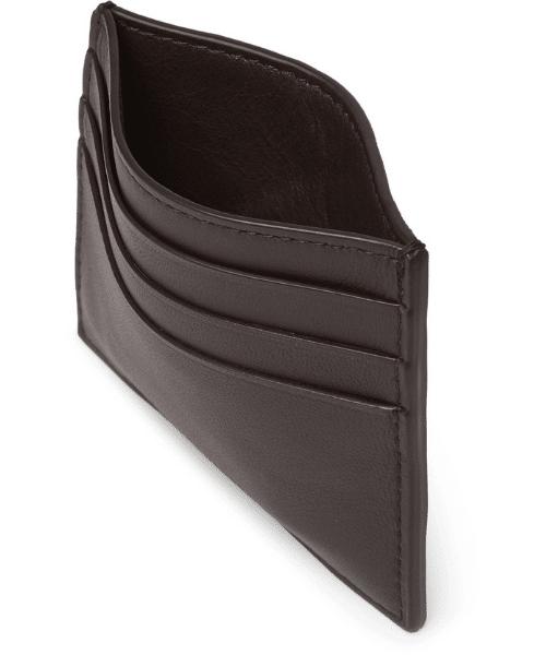 black leather mens cardholder