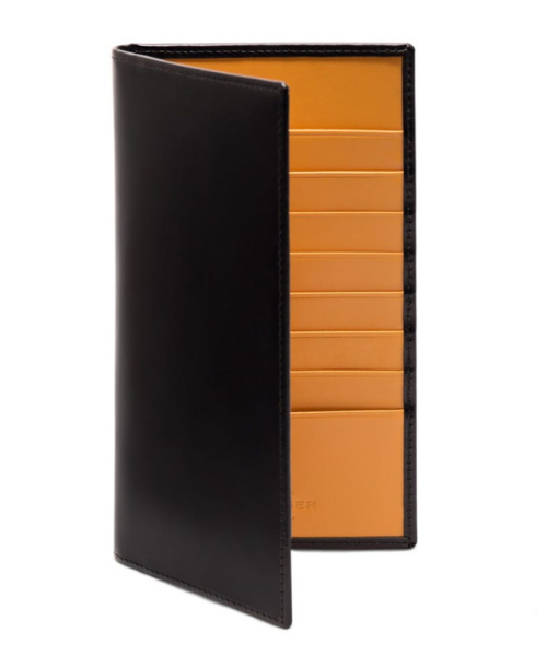 black bridle wallet by ettinger