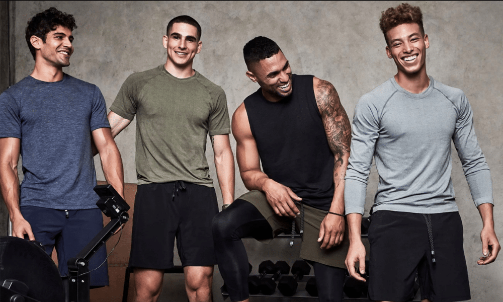 men in workout gear