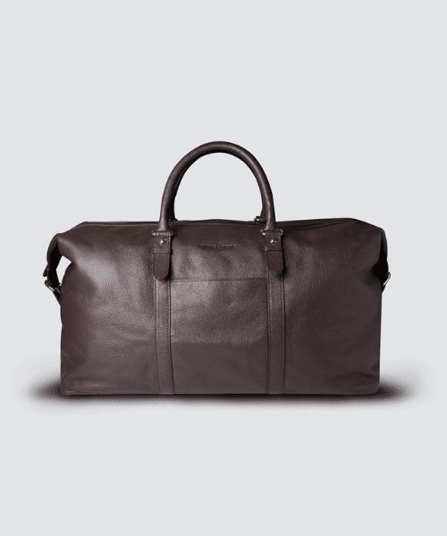 brown weekend bag for men