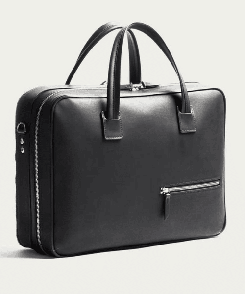 black mens briefcase by lundi