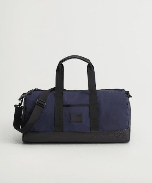 mango blue gym bag for men