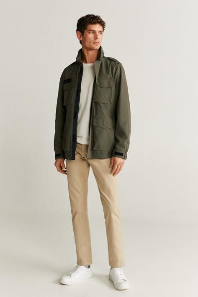 mango field jacket for men